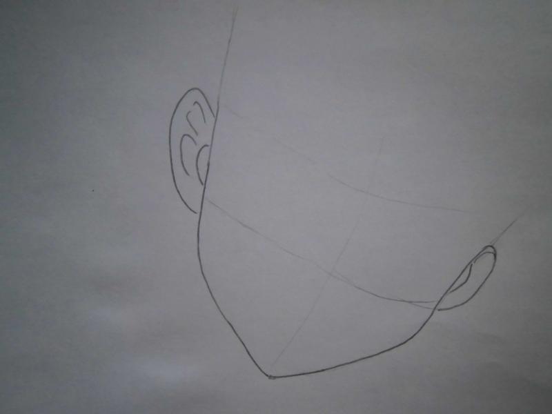Рисуем лицо Сейлор Марс - шаг 1
