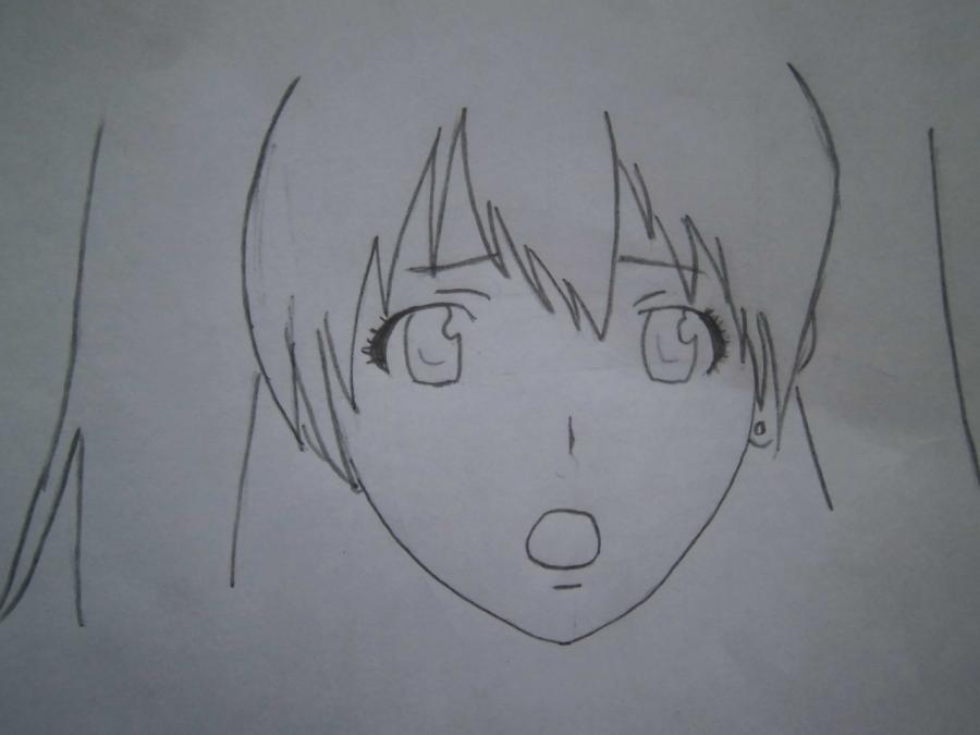 Как нарисовать Линали Ли из Ди.Грей - мен карандашом поэтапно