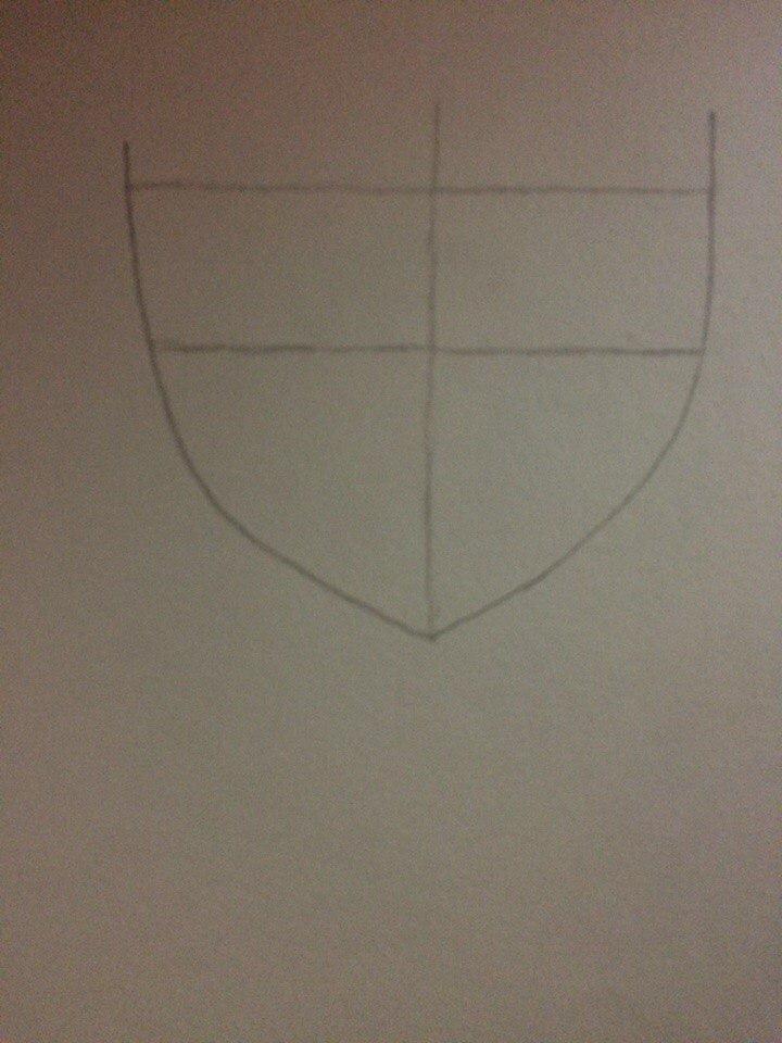 Рисуем лицо Люси из Хвоста Феи простым - шаг 1