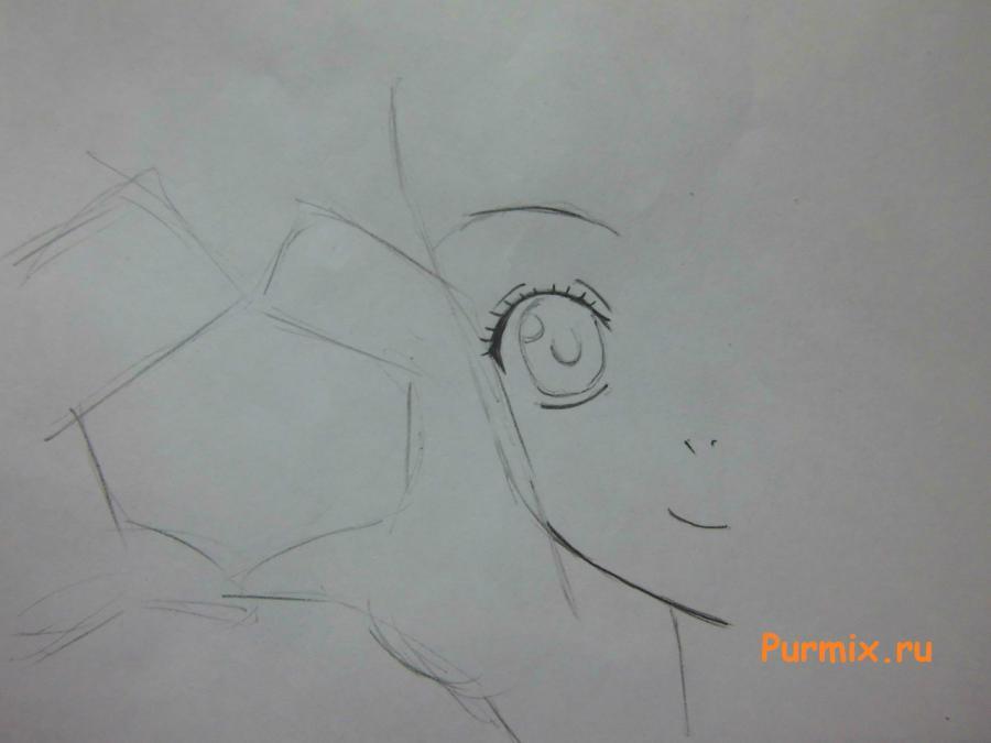 Рисуем Люси Сердоболию показывающая жест любви