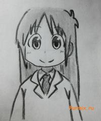Фото Маи Минаками из аниме Мелочи жизни карандашом