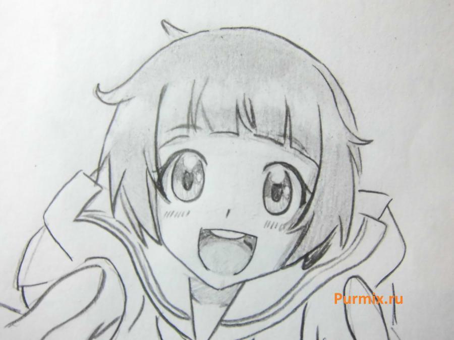 Как нарисовать Мако Манкансёку из аниме Убей или умри