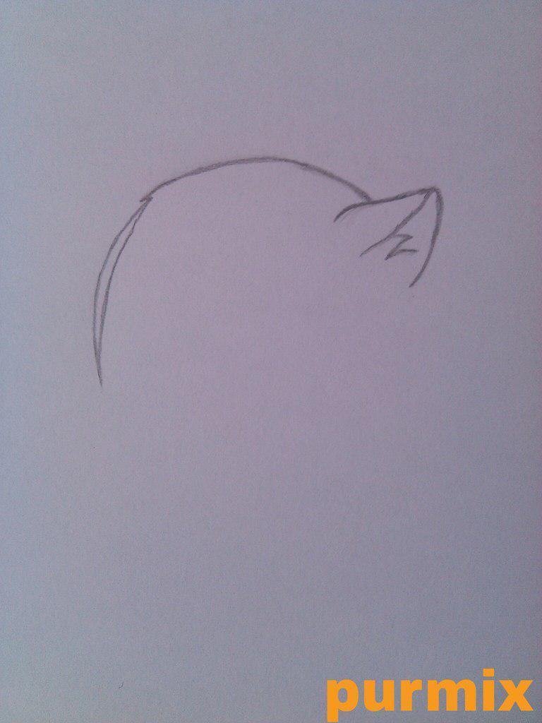 Рисуем маленького Томое из аниме Очень приятно-Бог - шаг 1