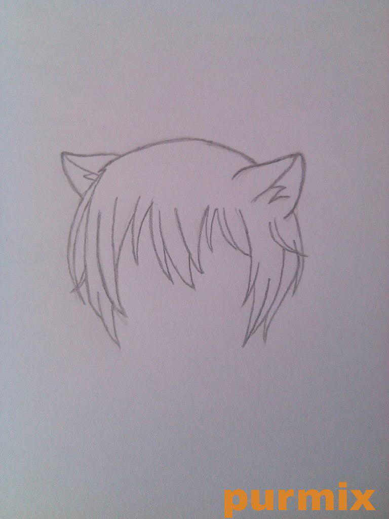 Рисуем маленького Томое из аниме Очень приятно-Бог - шаг 2