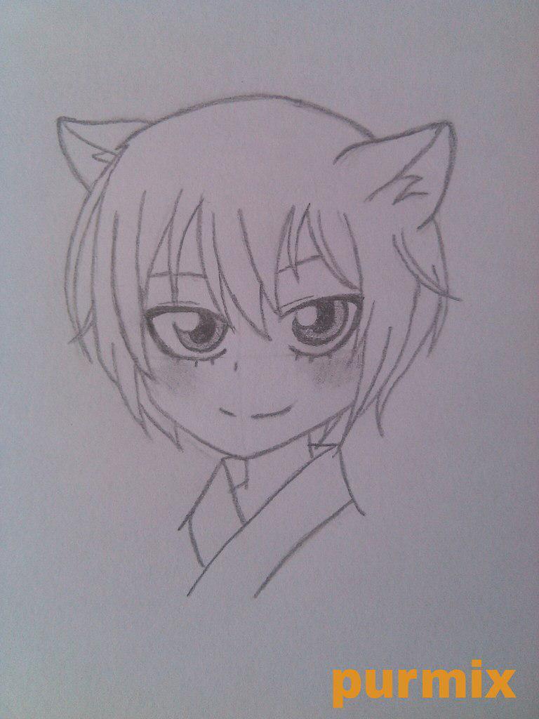 Рисуем маленького Томое из аниме Очень приятно-Бог - шаг 5