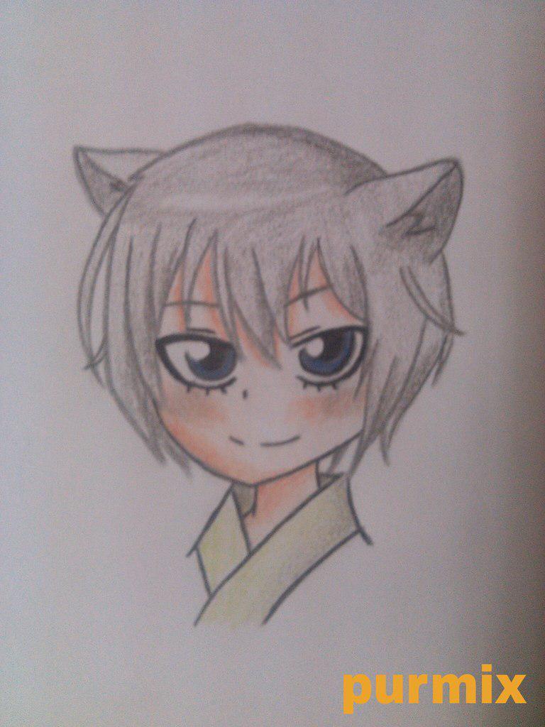 Рисуем маленького Томое из аниме Очень приятно-Бог - шаг 6