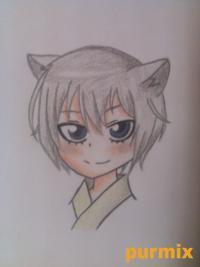 Рисунок маленького Томое из аниме Очень приятно-Бог