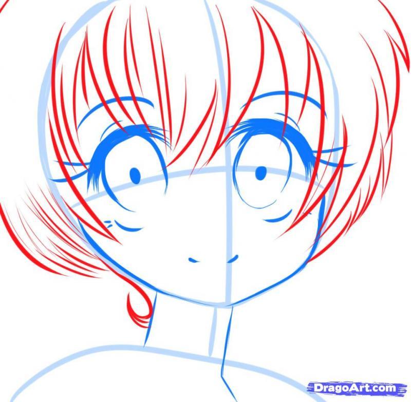 Рисуем манга девушку с красивыми глазами - фото 6