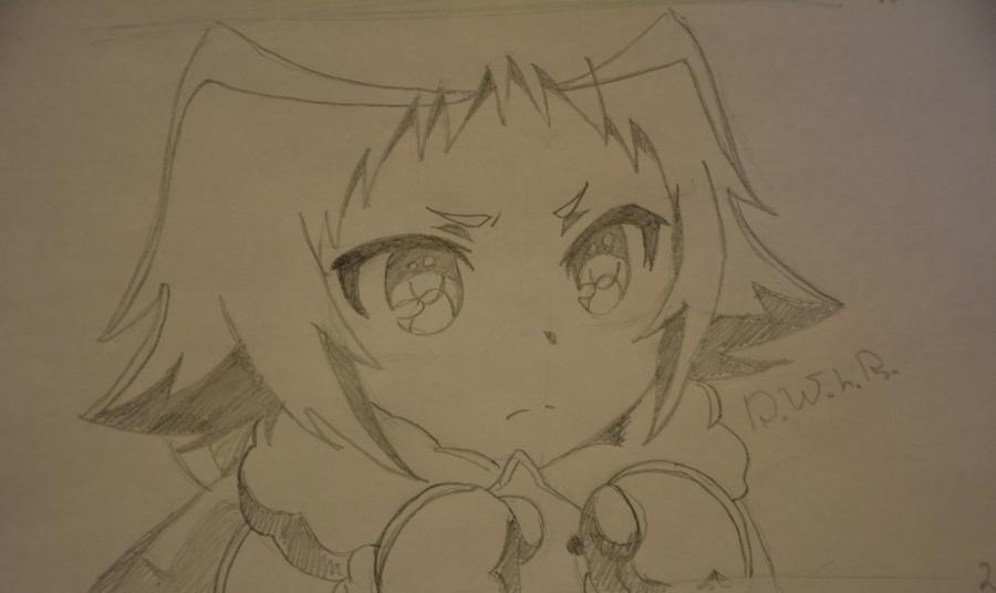 Рисуем Маширо из аниме Помолвлена с незнакомцем