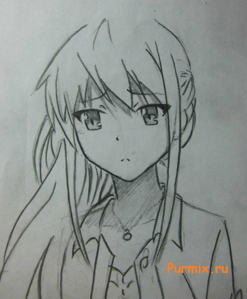 Рисуем Масиро Сиину из аниме Кошечка из Сакурасо