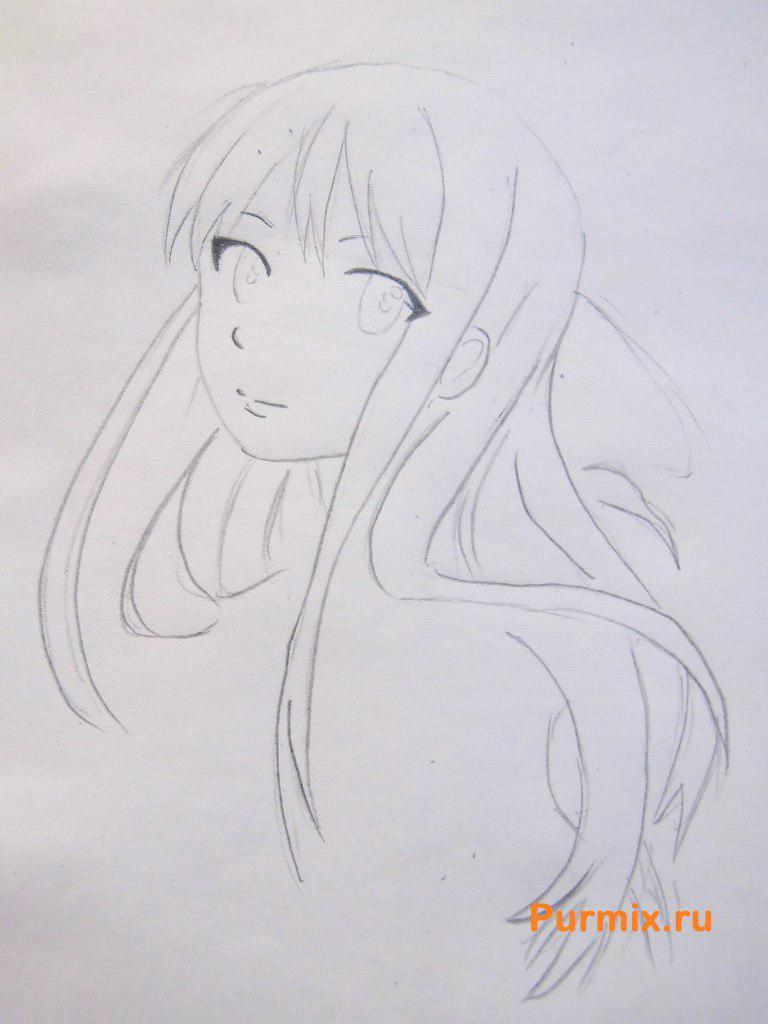 Рисуем Мицуки Насэ из аниме За гранью