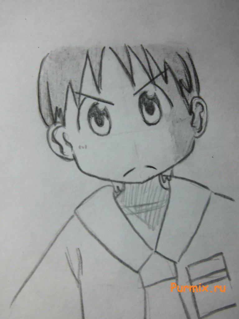 Рисуем Михоси Татибану из аниме Мелочи жизни