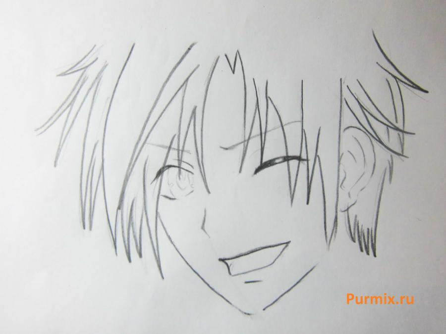 Как нарисовать Микагэ из аниме Очень приятно, Бог карандашом
