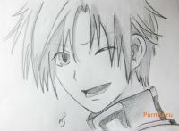Фото Микагэ из аниме Очень приятно, Бог карандашом