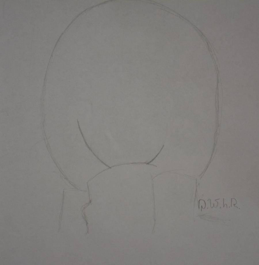 Как просто нарисовать портрет Микасы Акерман из Атака титанов - шаг 1