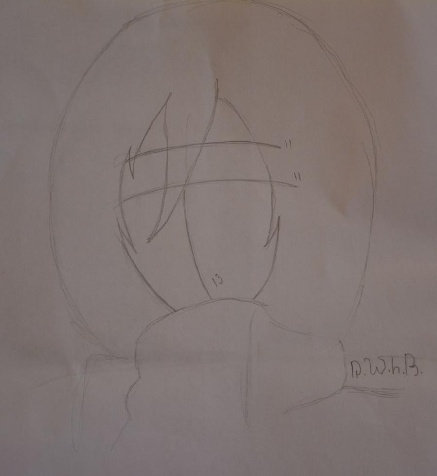 Как просто нарисовать портрет Микасы Акерман из Атака титанов - шаг 2
