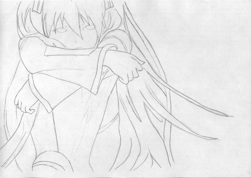 Рисуем грустную Мику Хацунэ - шаг 4