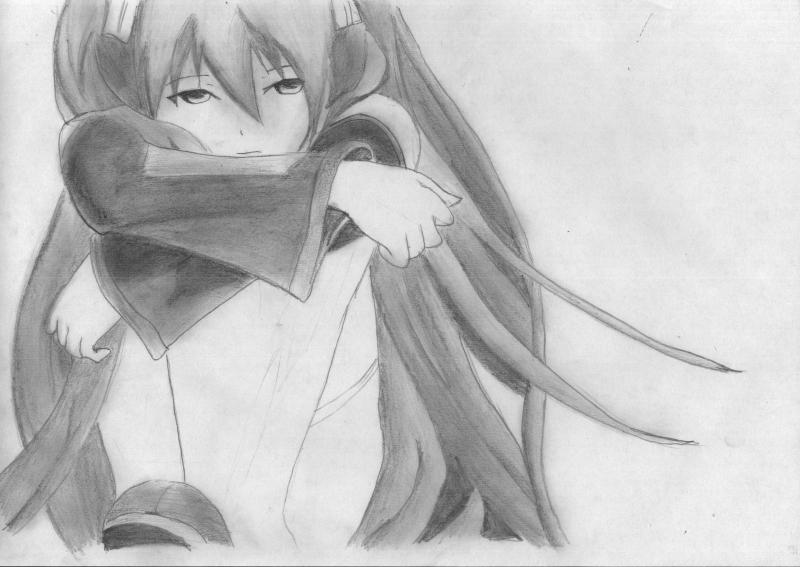 Рисуем грустную Мику Хацунэ - шаг 6