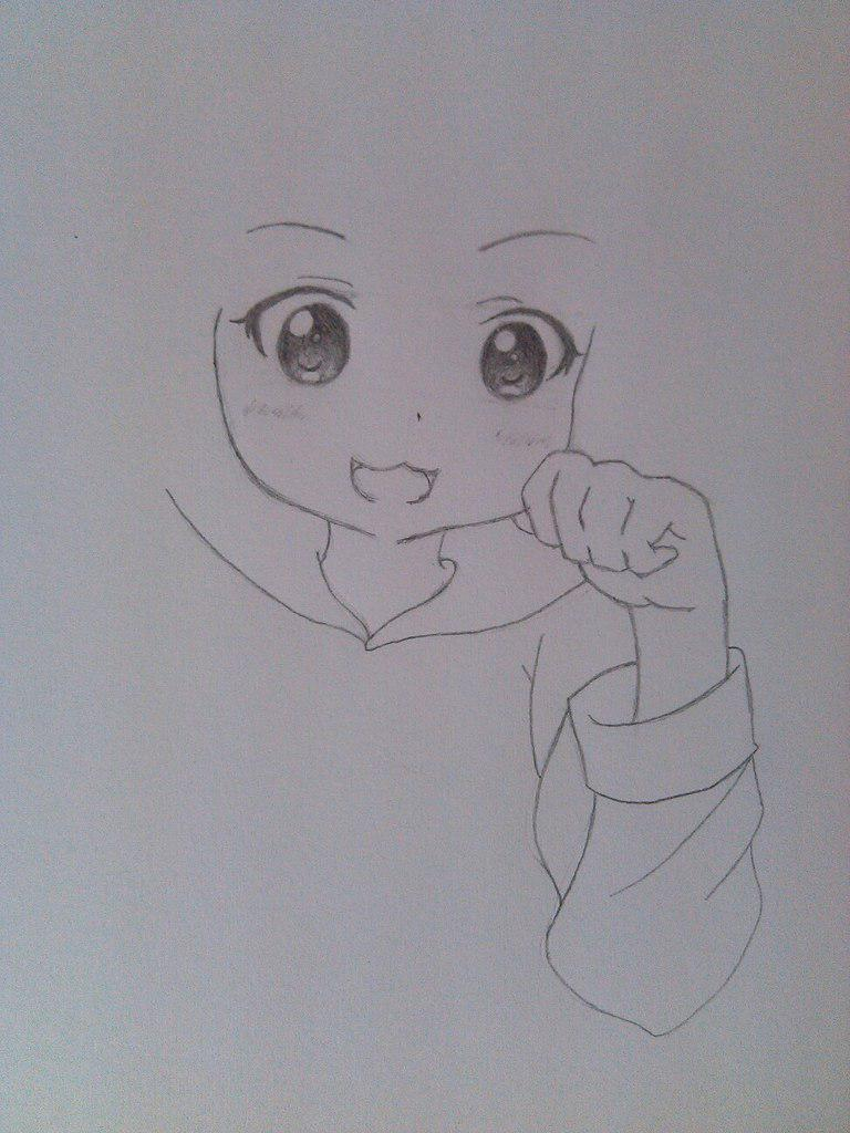 Рисуем милую аниме девочку в пижамке - шаг 3