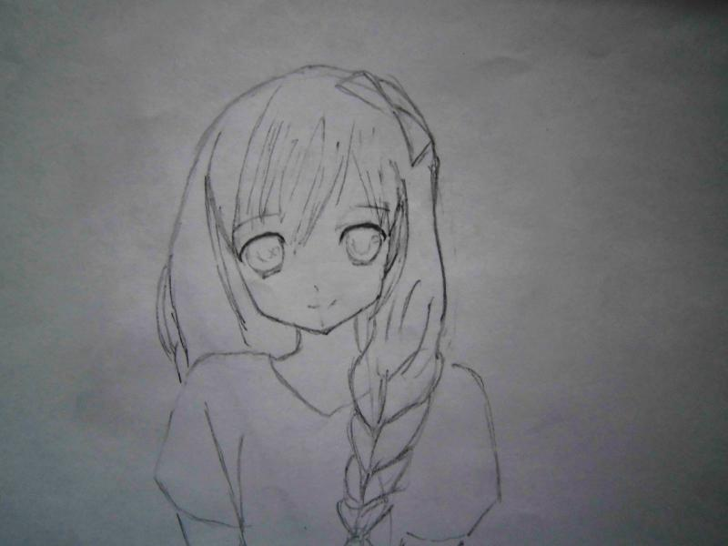 Рисуем милую аниме девушку - шаг 3