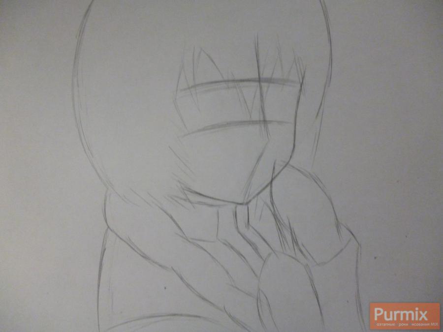 Рисуем Минори из аниме Лог Горизонт