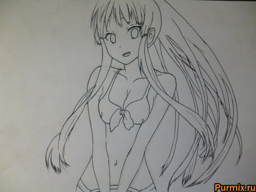Рисуем Мио Акияму из аниме K-on! - шаг 4