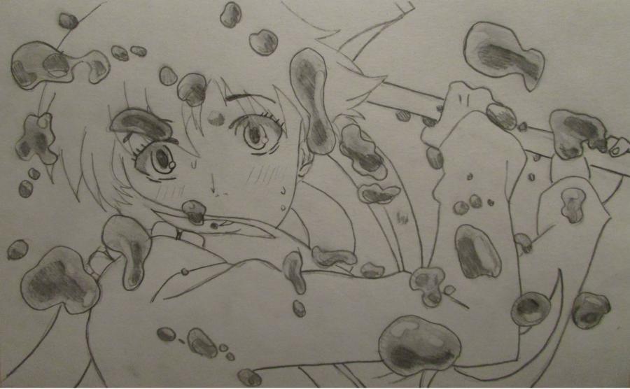 Рисуем Мираи Никки из аниме Дневник будущего - шаг 4