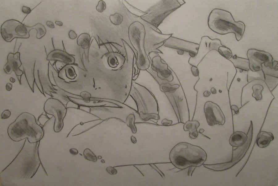 Рисуем Мираи Никки из аниме Дневник будущего - шаг 5