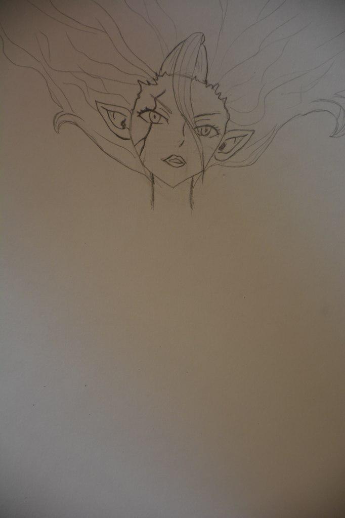 Рисуем Миражанну в облике Душа Сатаны из Сказка о Хвосте феи