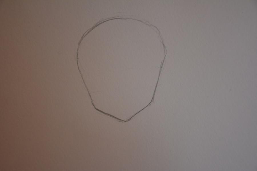 Рисуем Мираджейну в облике Халпас - шаг 1