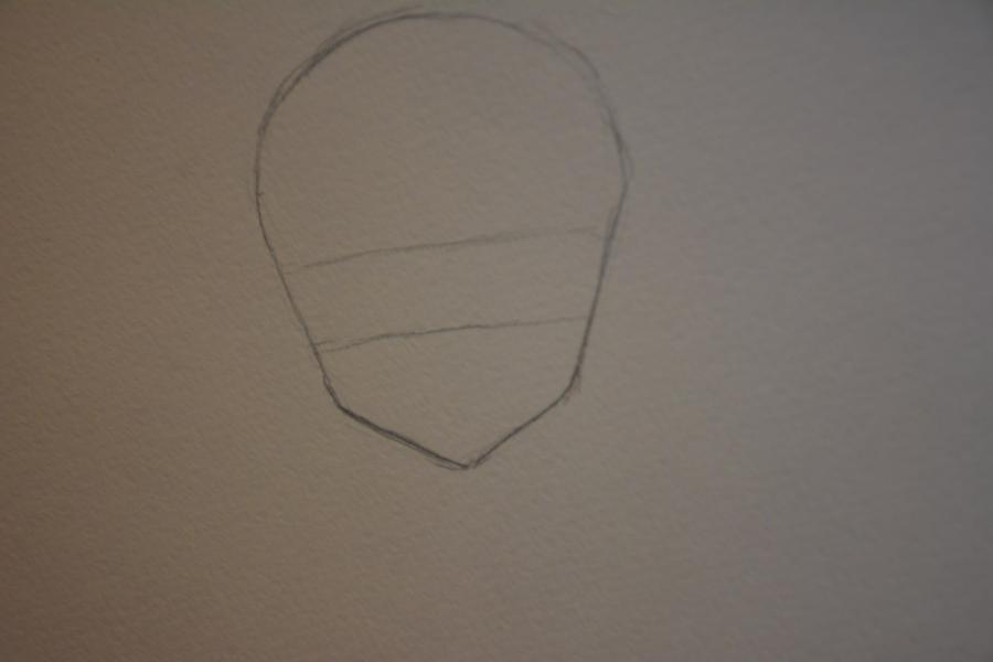 Рисуем Мираджейну в облике Халпас - шаг 2
