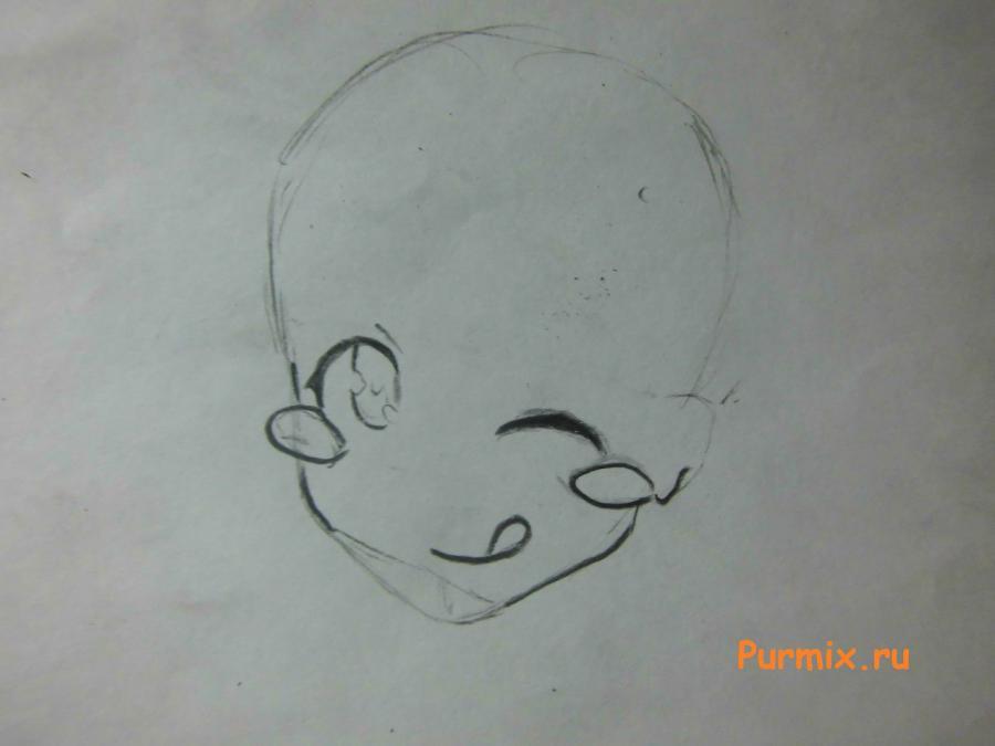 Рисуем Мисаки Камиигуса из аниме Кошечка из Сакурасо