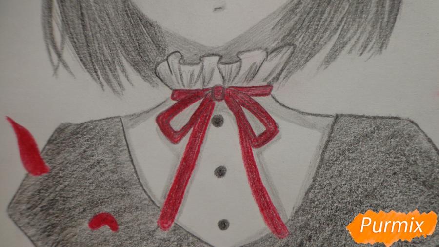 Рисуем Мисаки Мэй из аниме Иная карандашами - шаг 11