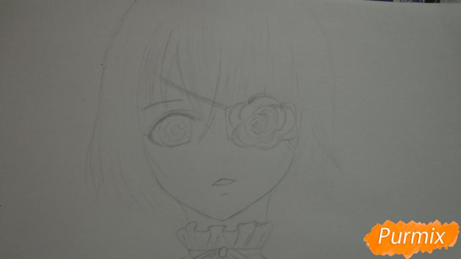 Рисуем Мисаки Мэй из аниме Иная карандашами - шаг 4