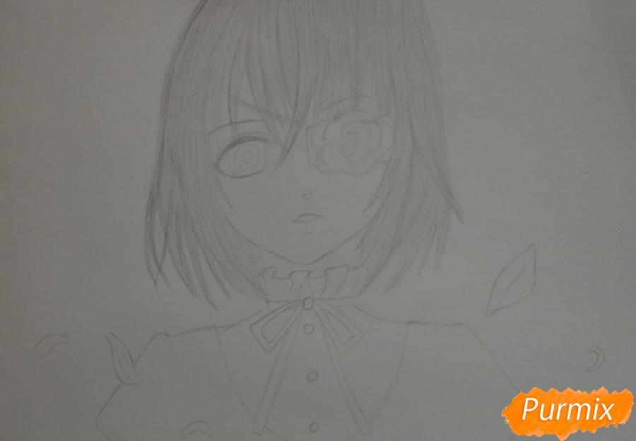 Рисуем Мисаки Мэй из аниме Иная карандашами - шаг 5