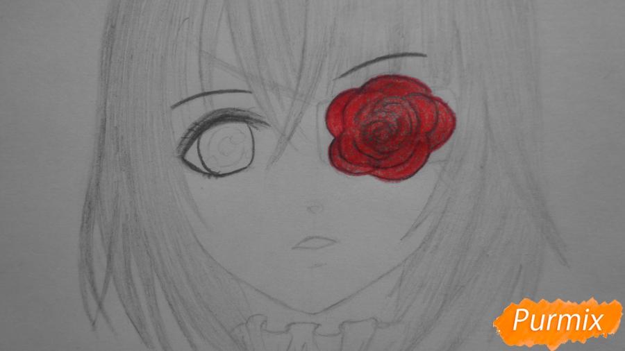 Рисуем и раскрасить Мисаки Мэй из аниме Иная - шаг 6