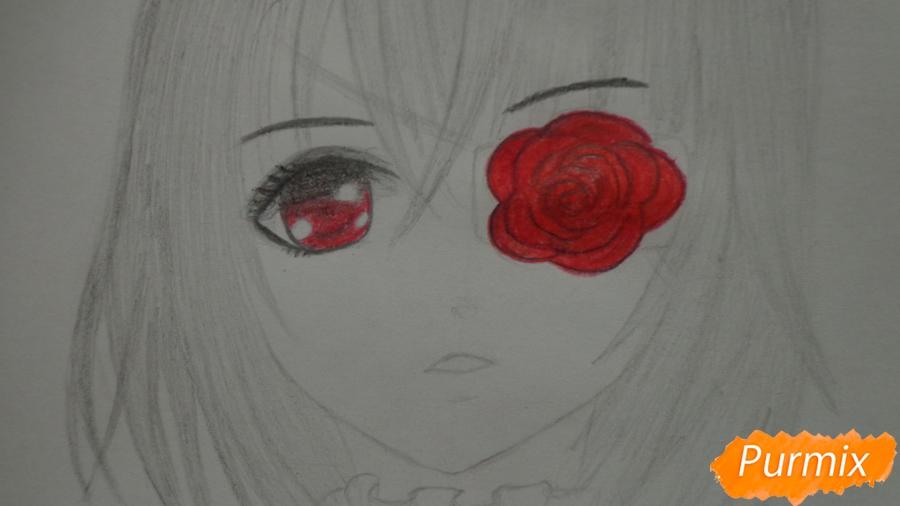 Рисуем и раскрасить Мисаки Мэй из аниме Иная - шаг 8