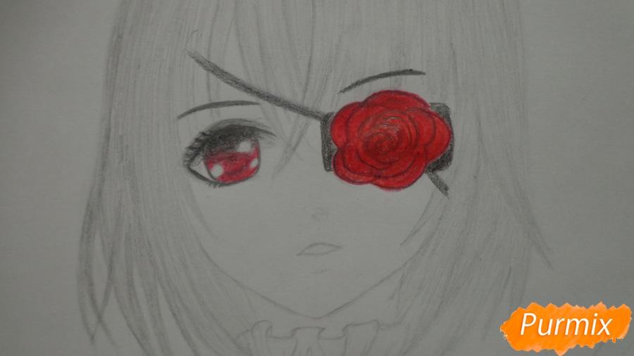 Рисуем и раскрасить Мисаки Мэй из аниме Иная - шаг 9