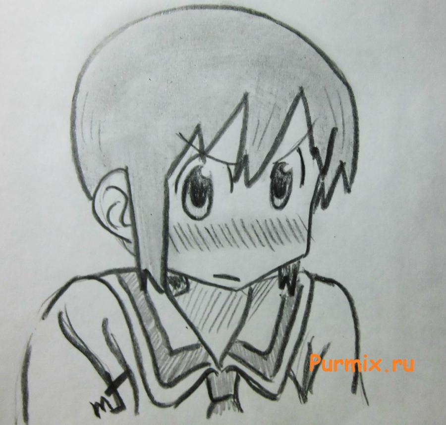 Рисуем Мисато Татибана из аниме Мелочи жизни