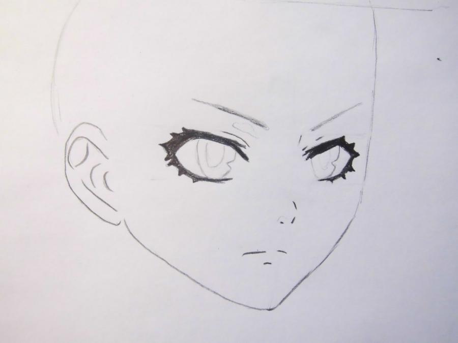 Как нарисовать Мэйли из аниме Темный дворецкий карандашом поэтапно