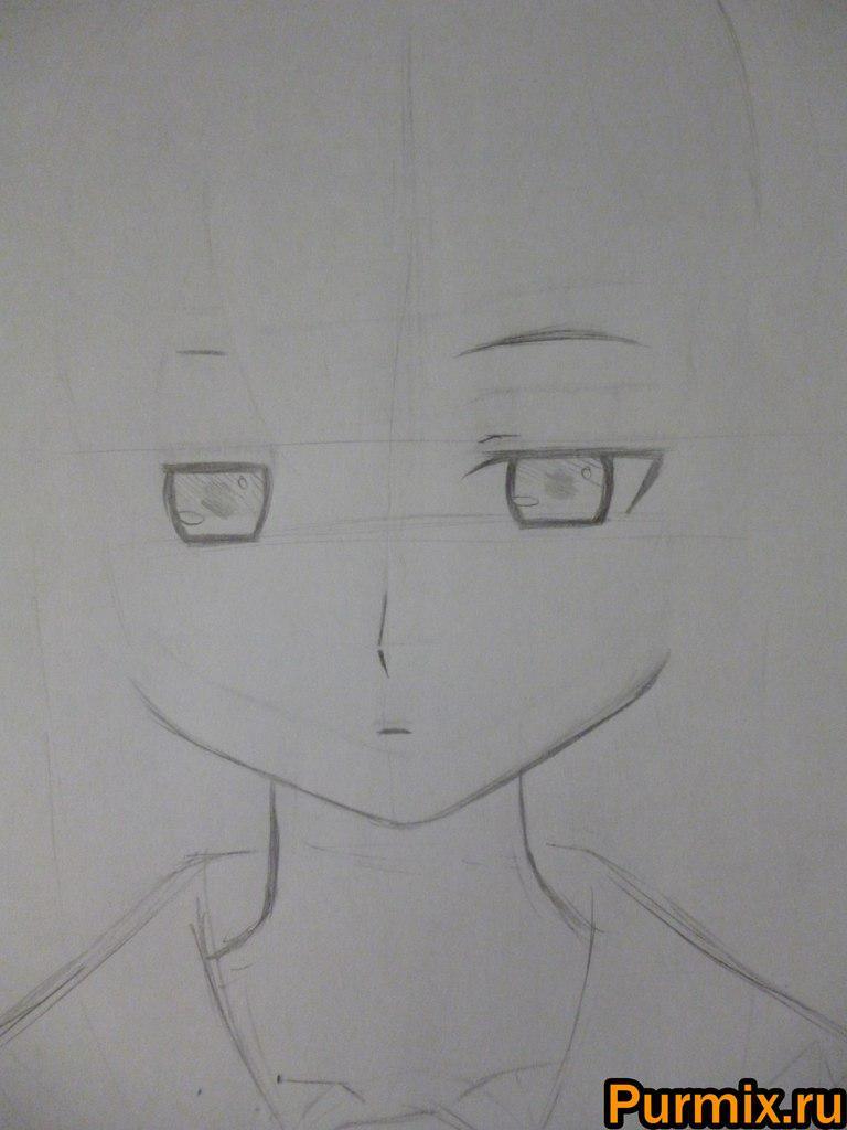 Рисуем Мэро Фурую из аниме Санка Рэа