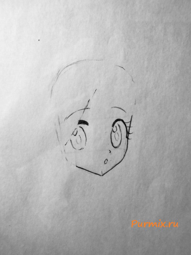 Как нарисовать Момо Кисараги из аниме Призрачный проект