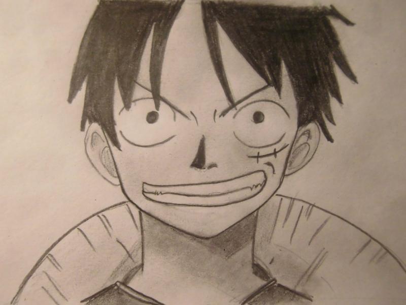 Рисуем Монки Д. Луффи из One Piece