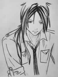 Фото Мукуро Рокудо из аниме Реборн карандашом