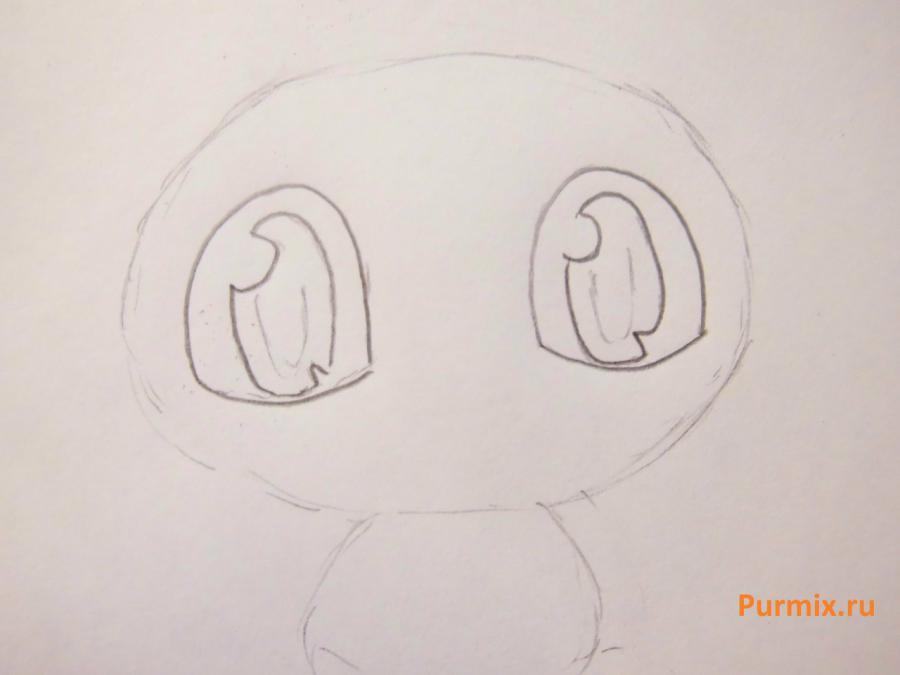 Рисуем Мяута из Покемонов простым
