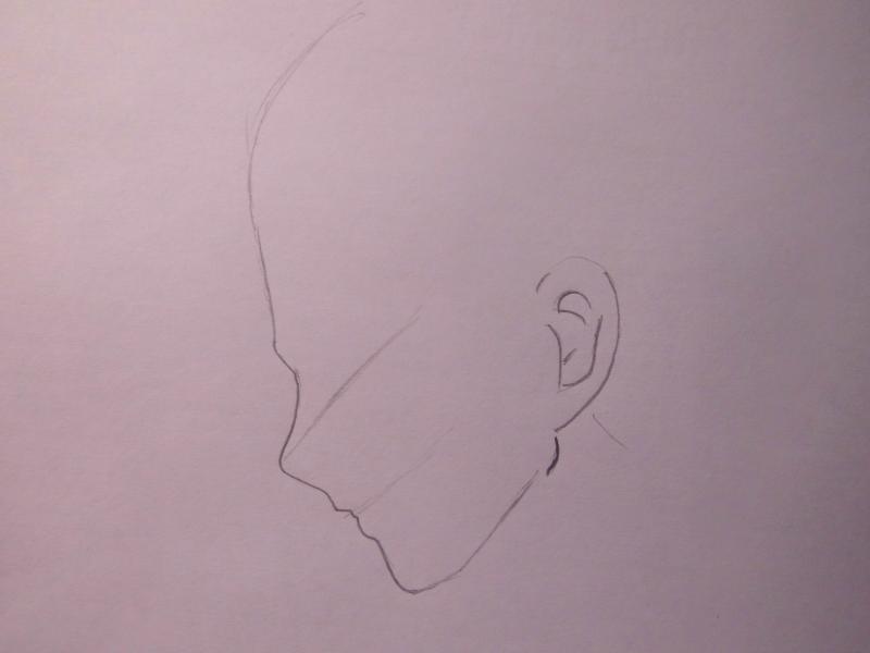 Рисуем <strong>как поэтапно нарисовать нацу</strong> Нацу Драгнил из аниме Сказка о Хвосте Феи - шаг 1