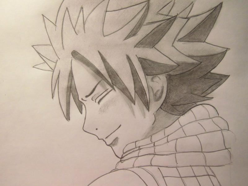 Рисуем Нацу Драгнил из Fairy Tail