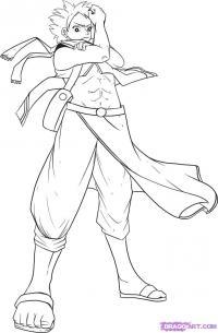 Как нарисовать Нацу в полный рост из аниме Fairy Tail