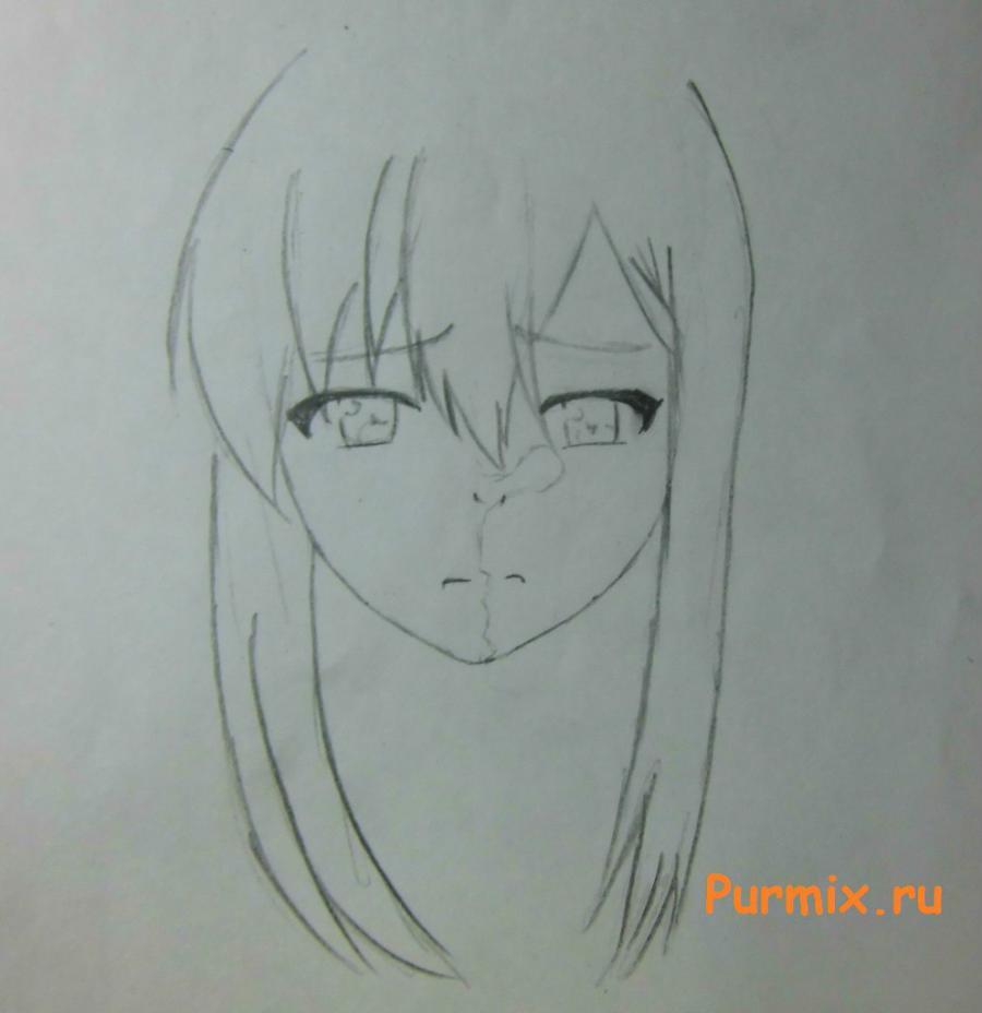 Как нарисовать Нанами Аояму из аниме Кошечка из Сакурасо