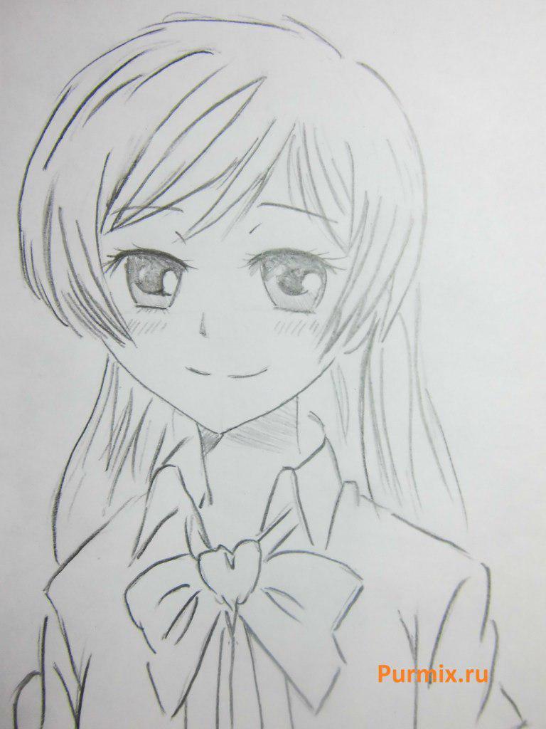 Как нарисовать Нанами Момодзоно из аниме Очень приятно, Бог